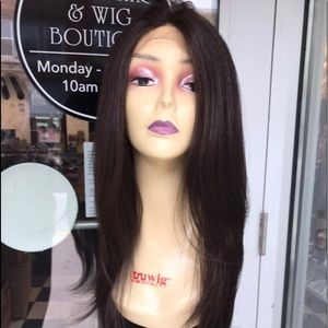 Accessories - Wig Brown Long Lacefront Wig Layers 2019 style New